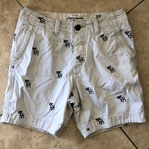 NEW Abercrombie & Fitch moose embroidered shorts